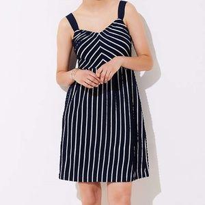 Sleeveless dress size 16 navy striped flare rock